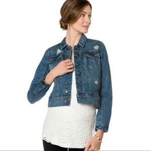 A Pea in the Pod Distressed Denim Jacket